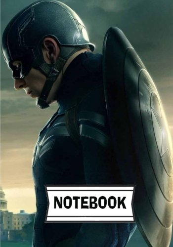 Notebook: Captain America : Journal Diary, 110 Lined pages, 7