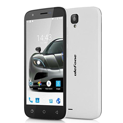 "Ulefone U007 - Smartphone Libre 3G Android 6.0 (5"" IPS,MT6580A, Quad Core, 1.3GHz, Cámara 8.0 Mp, 1G RAM, 8G ROM, Gestos Inteligentes) (Blanco)"