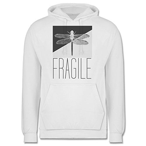 Statement Shirts - Fragile - Libelle - Männer Premium Kapuzenpullover / Hoodie Weiß