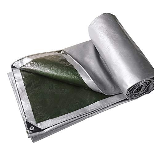 Gyh impermeabile tela impermeabilizzante impermeabile per esterni, pieghevole in plastica pieghevole per campeggio, placemat camping, misure multiple/argento e verde @ (dimensioni : 4 * 5m)