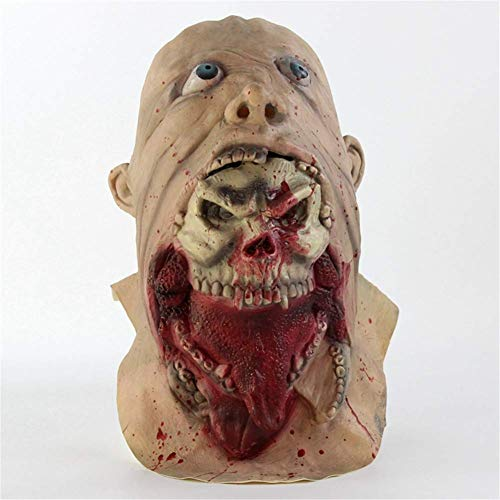 D Kostüm Herr Kopf - Wsjfc Halloween Maske Latex Maske Herren Kostüme Prop Kopfformung Voller Kopf Horror Zombie Masken Kopfbedeckungen Kostümfest Requisiten Liefert, C,D