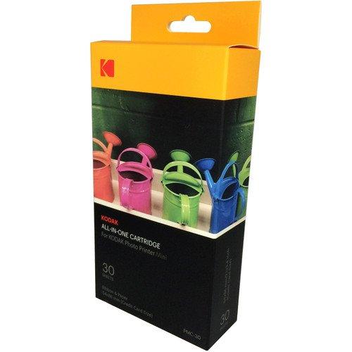 Kodak–Nouvelle Cartucho MC impresión fotográfica Mini–Cartucho Todo-en-uno (Tinta y Papel)–Juego de 30–Compatible con cámara Mini Shot, Impresora, Mini 3