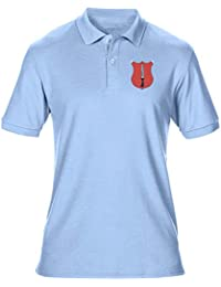 Official British Army Mens Polo Shirt by Military Online The Royal Irish Rangers Embroidered Logo