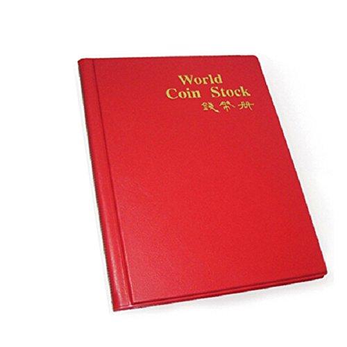 hefeibiaoduanjia Münzhalter Sammlung Aufbewahrung Geld Penny 120 Taschen Album Buch Münzhalter Sammlung Aufbewahrung Geld Geld Penny, Plastik, rot (Silber Pokemon-karte)