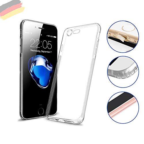 Hetcher Tech Premium Handyhülle kompatibel für Apple iPhone 6/6s - Hülle transparent Silikon - Schutzhülle viele Vorteile! - Cover Case Bumper mit Staubschutz (Apple Iphone6 Silikonhülle)