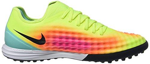 Nike Mens Magistax Finale Ii Tf Scarpe Da Calcio Multicolore (volt Giallo / Totalmente Arancio / Rosa Esplosione / Nero)