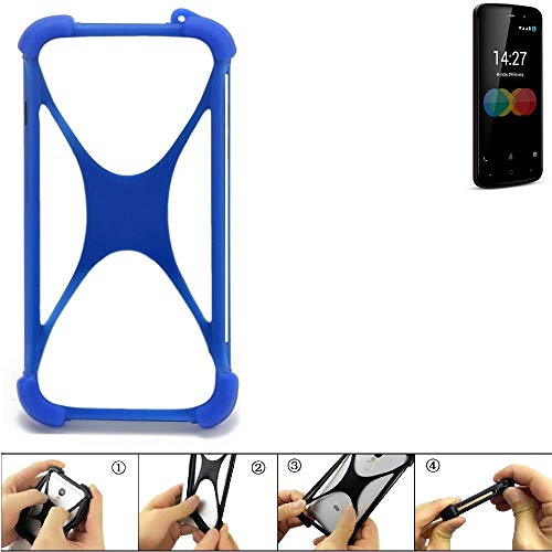 K-S-Trade Bumper für Allview P6 eMagic Silikon Schutz Hülle Handyhülle Silikoncase Softcase Cover Case Stoßschutz, blau (1x)