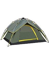 Flyelf Tienda Carpa Capa de doble Puerta Camping Excursionismo Viajes Playa Deportes Aire libre 3-4 Persona Pop Up Automático Verde