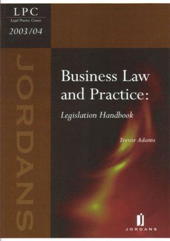 Business Law and Practice: Legislation Handbook (LPC resource manuals) por Alison Harvey