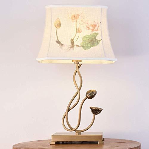Zhanghuiyu Lampada Da Comodino Camera Da Letto Soggiorno Retro Codice Lampada Da Terra Studio Hotel Progetto Decorazione Lotus Lampada Da Tavolo