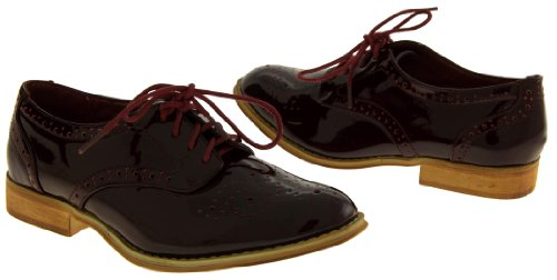 Footwear Studio , Richelieu femme Rouge - Bordeaux
