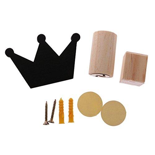 Nopea Krone Haken Kinder Garderobe Haken Holz Kleiderhaken aus Holz für Kinderzimmer Netter Wandhaken Wand Verzierungs auf Hänger Kinderzimmer -