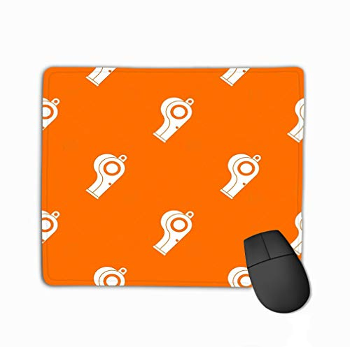 Mouse Pad Sport Whistle Pattern Sport Whistle Pattern Repeat orange Color Any Design Geometric Rectangle Rubber Mousepad 11.81 X 9.84 Inch