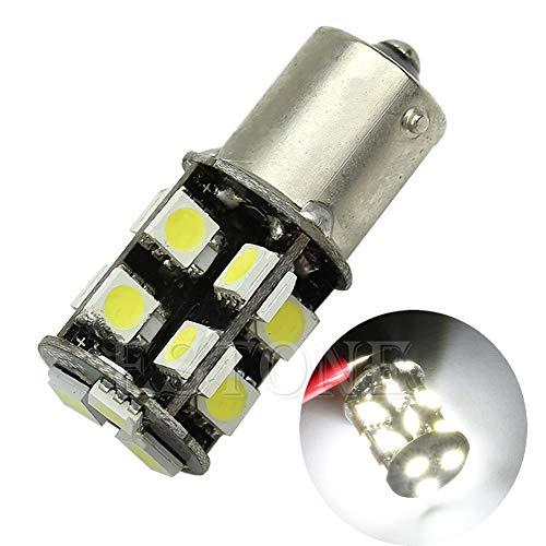 Nkysm LED Lampes de voiture Blanc BA15S 1129 Lampadina 19-led di Errore Bianco CANBUS gratuit de voiture sauvegarde DRL Luce