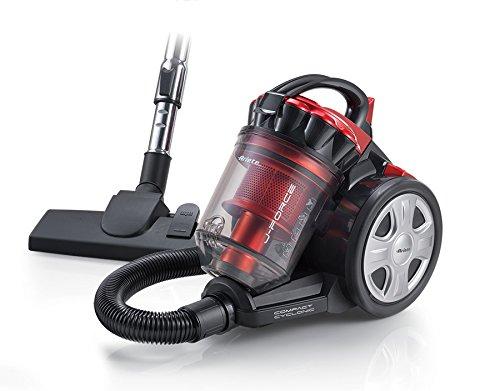 Ariete 2753 j-force – aspirapolvere senza sacco, tecnologia multiciclonica, filtro hepa, tripla classe a, rosso/nero