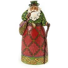 Enesco Jim Shore - Figura Decorativa de Papá Noel de Navidad, diseño de corazón,