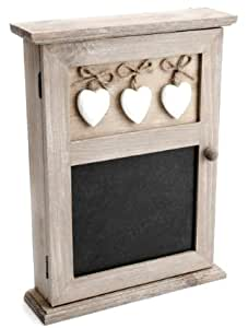 Blackboard Keybox with White Hearts