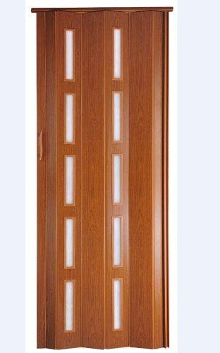 Falttür Schiebetür Kunststofftür kirsche farben Fenster Höhe 202 cm Einbaubreite bis 83 cm Doppelwandprofil Neu