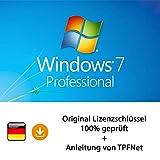 MS Windows 7 Pro 32 bit & 64 bit Vollversion Original Lizenzschlüssel per Post und E-Mail + Anleitung von TPFNet® - Versand maximal 60Min