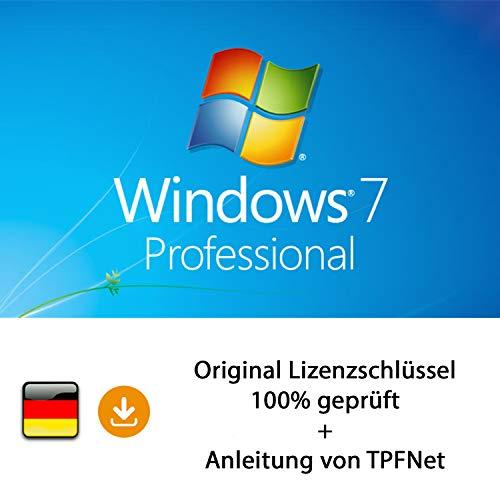 MS Windows 7 Pro 32 bit & 64 bit Vollversion Original Lizenzschlüssel per Post und E-Mail + Anleitung von TPFNet® - Versand maximal 60Min (Windows 7 64 Pro)