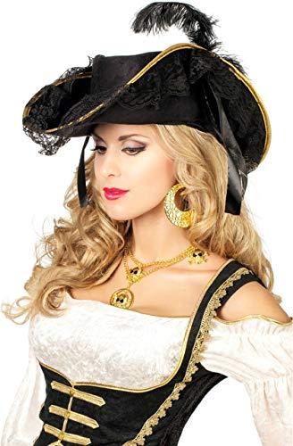 Günstige Piraten Hüte - Damen Piratendreispitz,