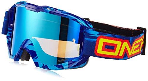 O'Neal B1 RL Goggle ICEBREAKER Blau Schwarz Radium verspiegelt Moto Cross Enduro Motorrad Brille, 6023-701