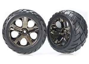 "Traxxas 3776A Anaconda 2.8"" Tires Assembled on All-Star Black-Chrome Wheels (japan import)"