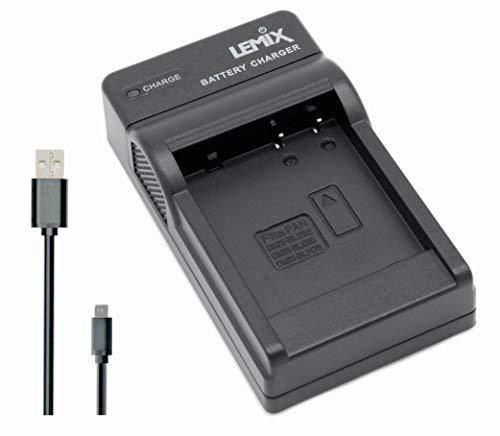 Lemix (BLE9) Chargeur USB Ultra Mince pour Batteries Panasonic DMW-BLE9, DMW-BLG10 & DMW-BLH7E pour appareils (listés ci-Dessous) PANASONIC LUMIX séries DMC
