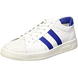 Bikkembergs Bounce 588 L.Shoe M Leather White/Blue, Scarpe Low-Top Uomo