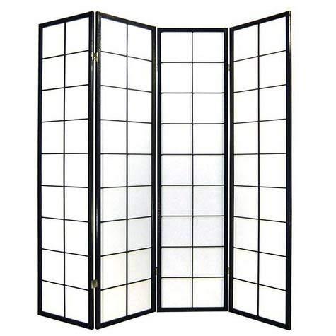 Fine Asianliving Japanischer Raumteiler Paravent Trennwand 180/B4 Sichtschutz Trennwand Faltbar Raumtrenner Spanische Wand - 112-511