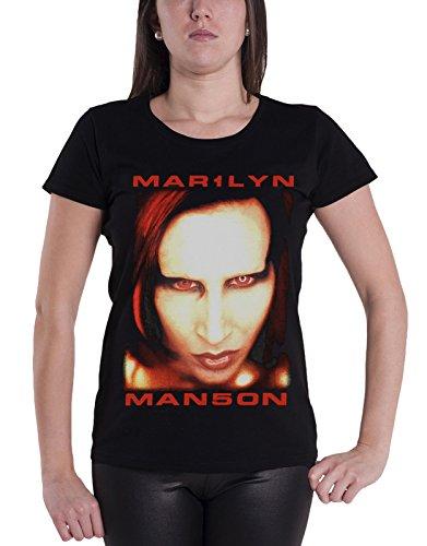 Marilyn Manson T Shirt Bigger Than Satan officiel Femme nouveau Noir Skinny Fit