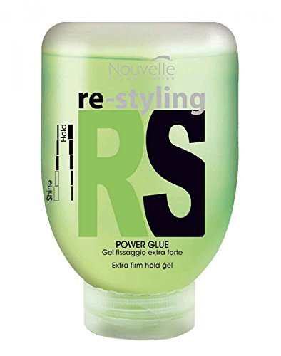 Nouvelle Power Glue 1 x 150 ml Hyper Hair Re-Styling RS extra firm hold gel (Extra Hold Styling Gel)