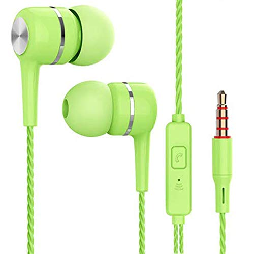 örer Geräuschisolierung, Ohrhörer, Kopfhörer, Kompatibel Mit iPhone, Ipod, Ipad, MP3-Player, Samsung Galaxy, Nokia, HTC,Grün ()