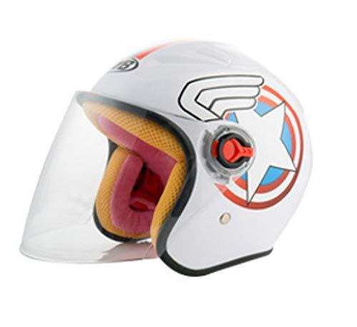 YHBHHW Kindermotorrad-Helm Cartoon-Helm Herbsß und Winter Halbhelm niedlich Vier Jahreszeiten Helm Helm Helm Helm Reise wesentlichen Outdoor-Schutz