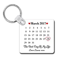 Personalised Sentimental Keepsake The Best Day of My Life Unisub Plastic Keyring