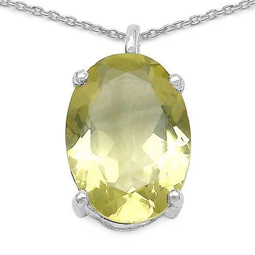 Johareez 5.38CTW Genuine Lemon Topaz .925 Sterling Silver Pendant