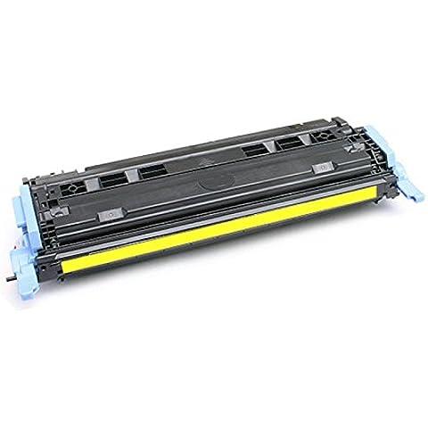 PerfectPrint - Compatible Q6002A Amarillo Cartucho de tóner de impresora HP Laserjet 1600 Fo 2600 2600N 2605 605DN 2605DTN MFP CM1015