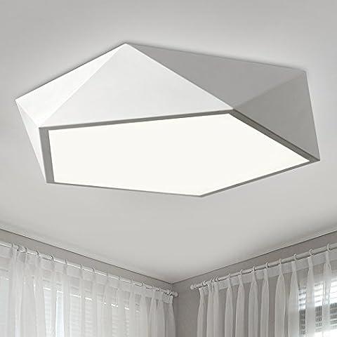 BBSLT Natale arte minimalista, camera da letto, moderna lampada da soffitto, soggiorno, salotto, sala da pranzo, ferro, (52cm) - Ash Tonalità Legno