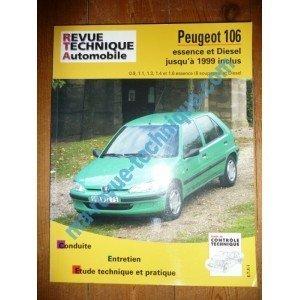 RRevue Technique0539.5 REVUE TECHNIQUE AUTOMOBILE PEUGEOT 106 jusqu'à 1999 inclus