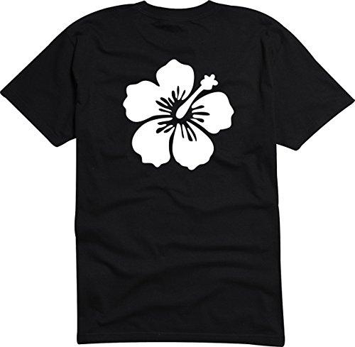 T-Shirt Herren - Hibiscus Red Flower Schwarz