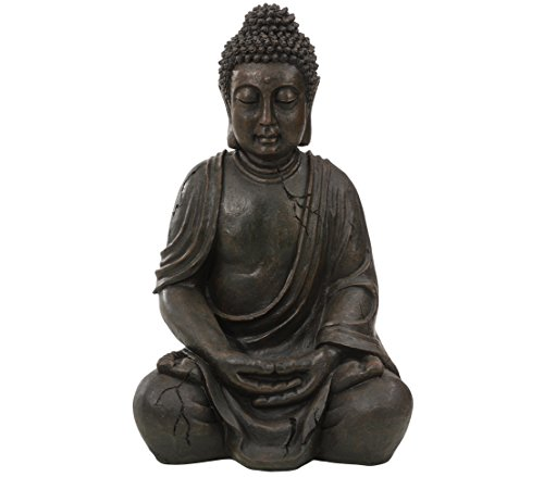 Buddha Garten: Dehner Buddhafigur sitzend