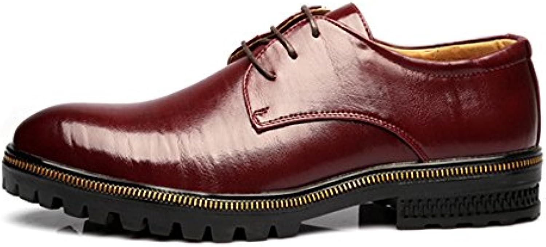 Yaojiaju Herren Low Top Business Schuhe Matte Echtes Leder Lace up Breathable Ausgekleidet Outsole Oxfords