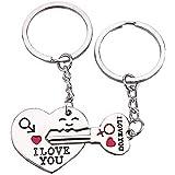 """Hosaire Süße Paar """"I Love You Schlüsselanhänger Key Ring-Set Sweetheart Geschenk für charismas Geburtstag Valentinstag Hochzeit Jahrestag Geschenk für Liebhaber"""