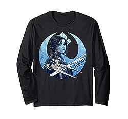Star Wars Rogue One Jyn Rebel U-Wing Logo Langarmshirt