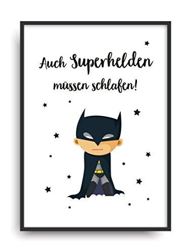 Poster Bild ungerahmt DIN A4 Geschenk (Aus Superhelden Kostüme Ideen)