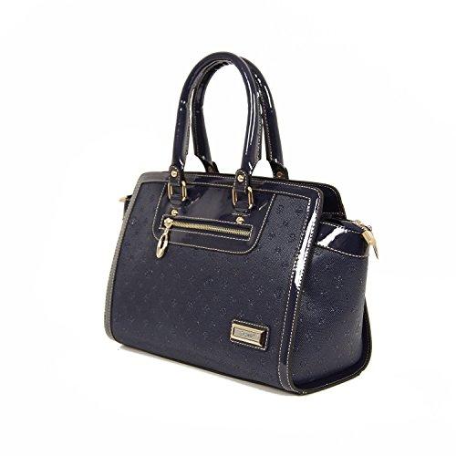 Damentasche Handtasche Tasche Luxus Taymir Detailprägung Ziehschleife versch. Farben Blau