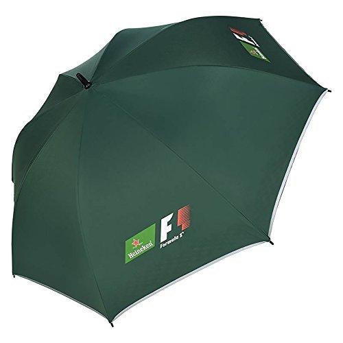 Heineken Formel 1 Regenschirm - Dunkelgrün, mit Heineken-F1-Logos auf 4 Flächen