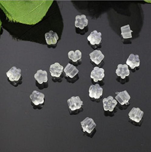 Domire 100 Plastic Cube Earring Back Stoppers--Perfect for Post or Hook Earrings