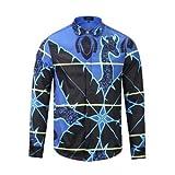 MAYUAN520 Hemden Medusa Shirt Druck Shirts Men Fashion Design, Lila, XXL