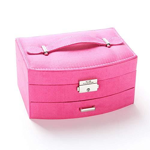 Littlefairy flanella scatola doppia pelle mano gioielli jewelry storage box 20 * 15.5 * 10cm